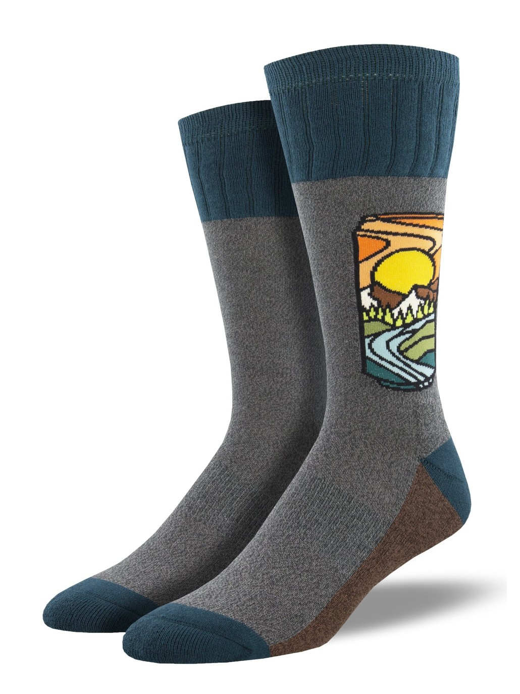 Gabby Maria Men's Brew with a View 2 Crew Socks