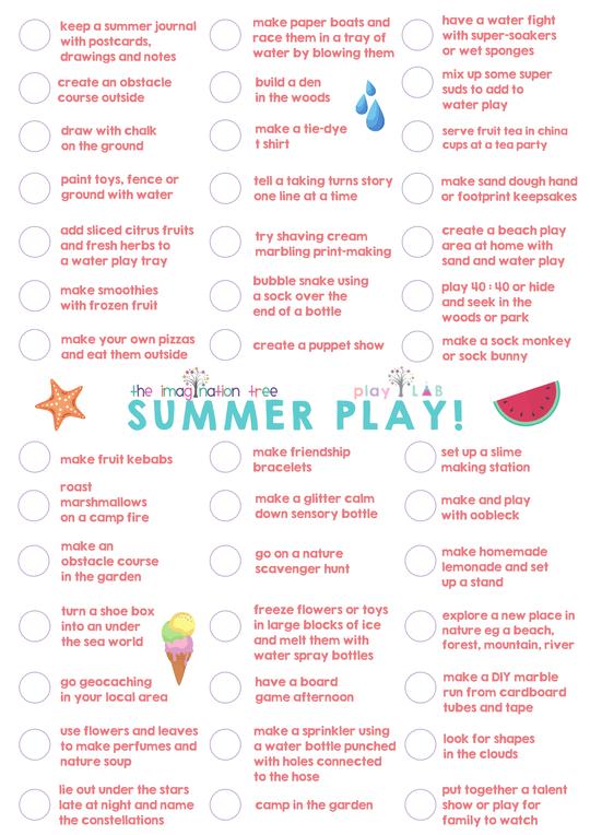 Summer Play Ideas
