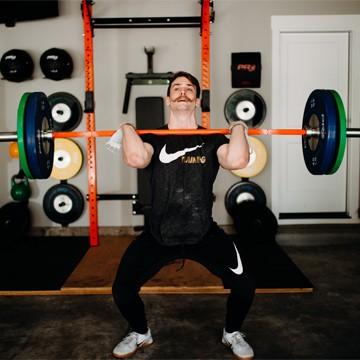 Cody Anderson garage strength training