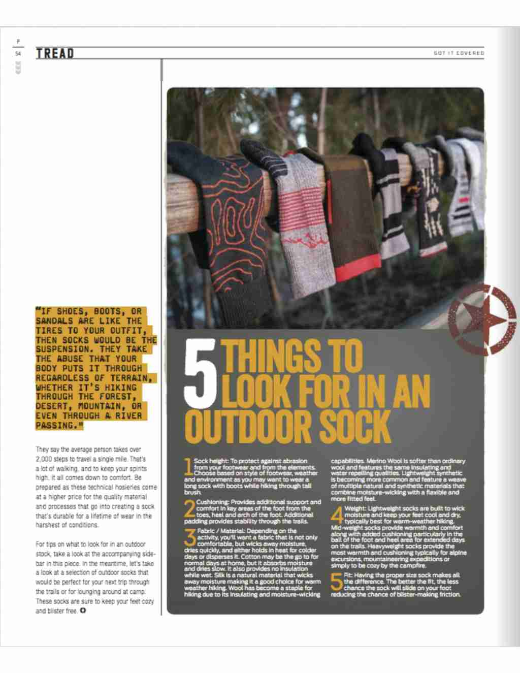 5 Things To Look For In An Outdoor Sock