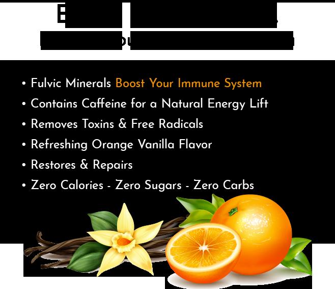 blk. Energy Orange & Vanilla All Natural Alkaline Spring Water 12 Pack Boost Your Immune System Info