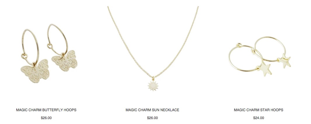 HONEYCAT Magic Charms Collection pieces