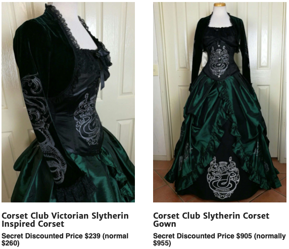 Victorian Slytherin inspired corset