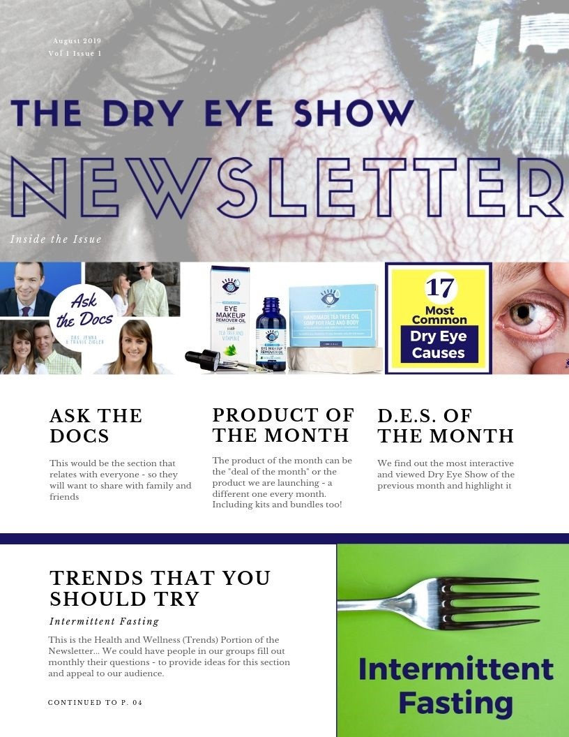 Dry Eye Show Newsletter Template