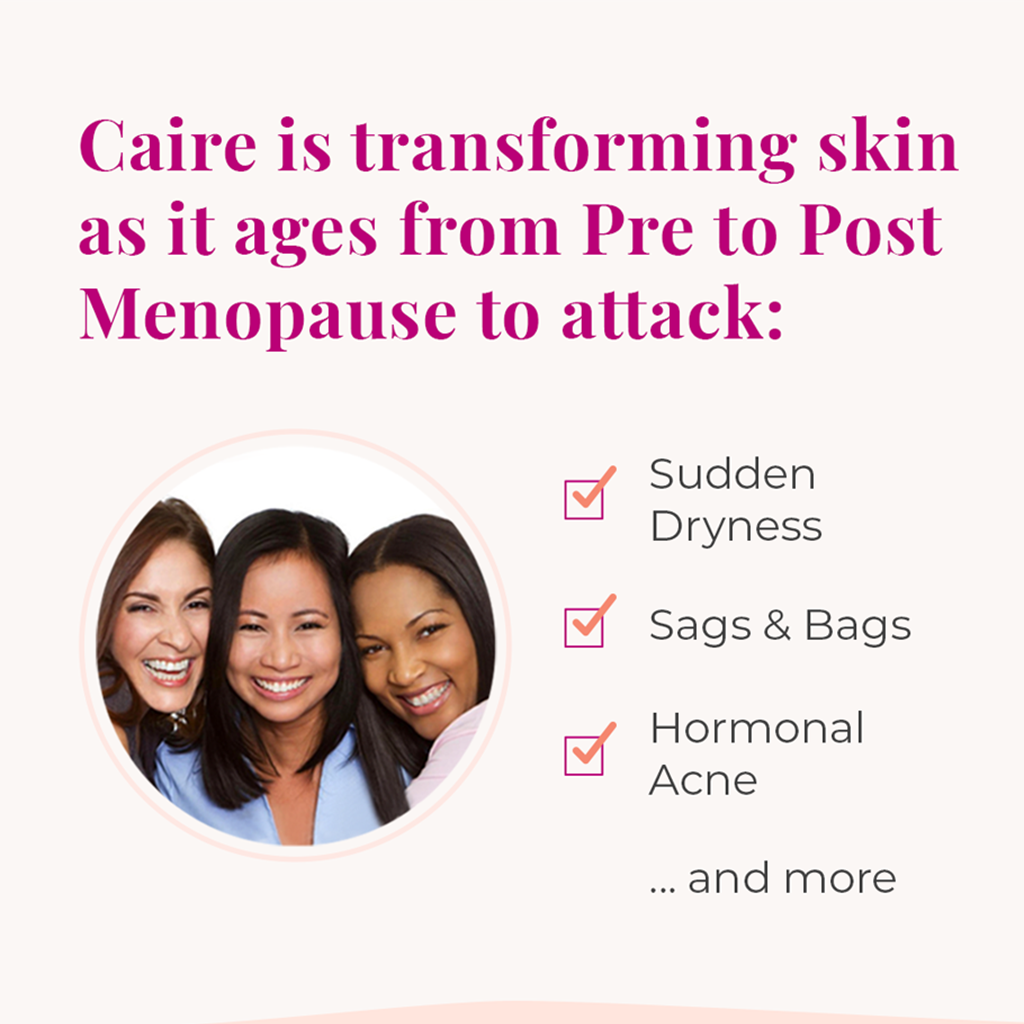 Caire is Transforming skin as it ages from pre to post menopause | Caire Beauty