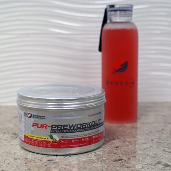 Pur Pre-workout Drink Strength Genesis White Background