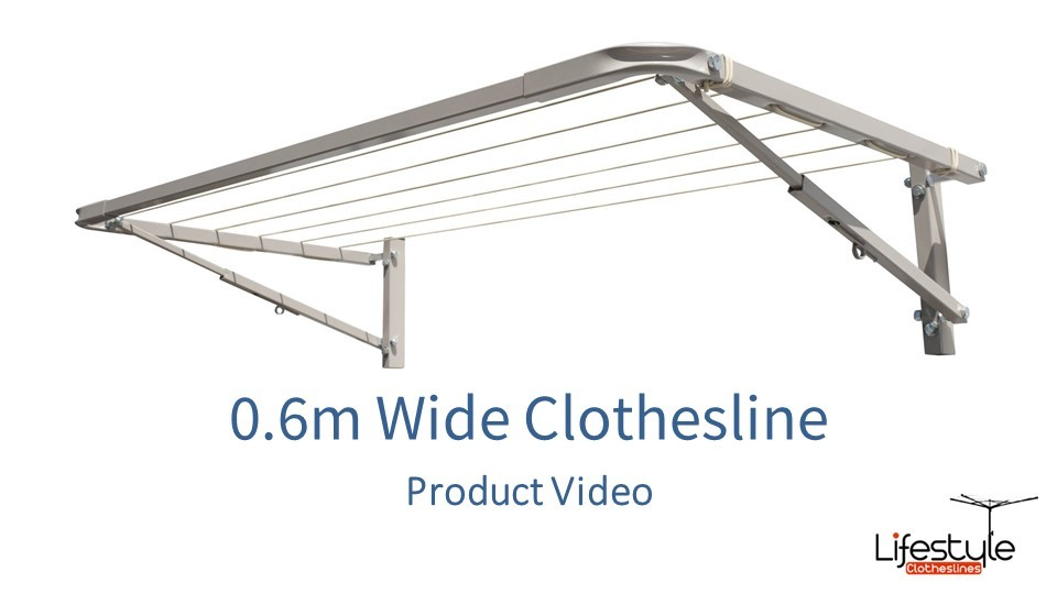 0.6m wide clothesline