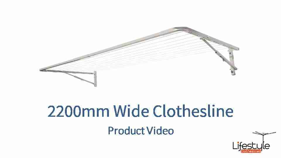 2200mm wide clothesline product link