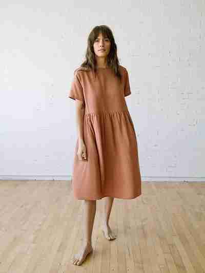 Summer Midi Dress - Nico Dress in Cameo