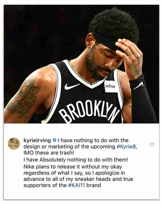 Kyrie Irving Thinks His Own Next Signature Sneaker Is Trash