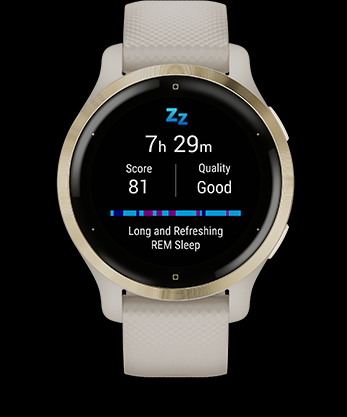 Garmin ADVANCED SLEEP MONITORING Get a full picture of how you're sleeping, with a breakdown of your light, deep and REM sleep stages as well as Pulse Ox3 and respiration data. Garmin Venu2