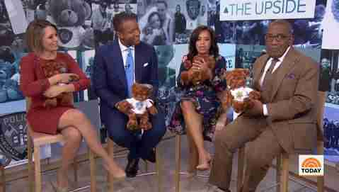 The cast of the Today Show is holding our bears.