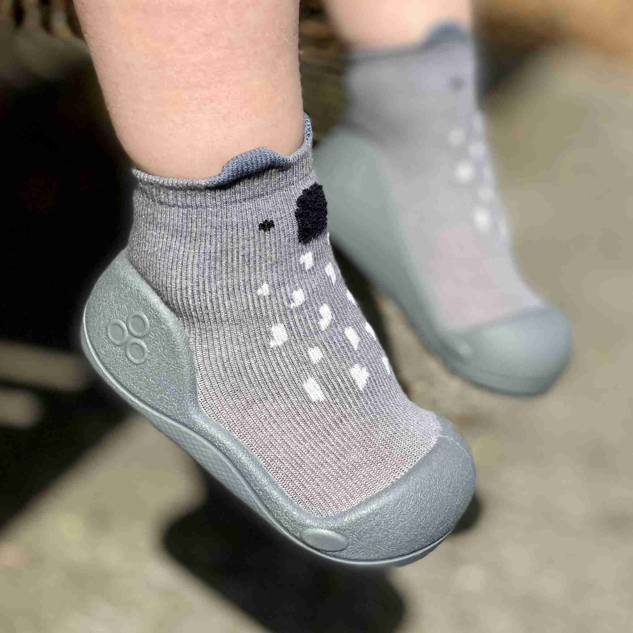 Attipas baby shoes in Koala Grey