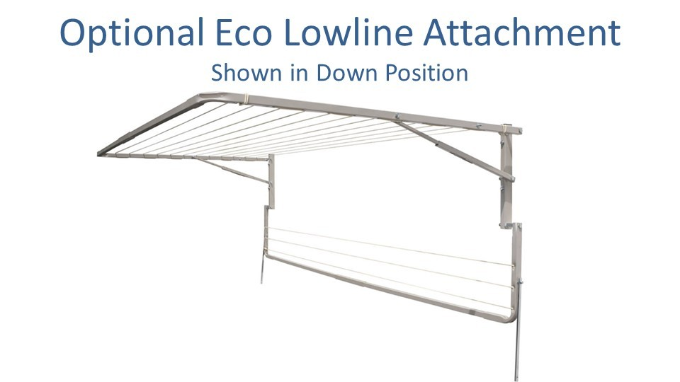eco 230cm wide lowline attachment show in down position