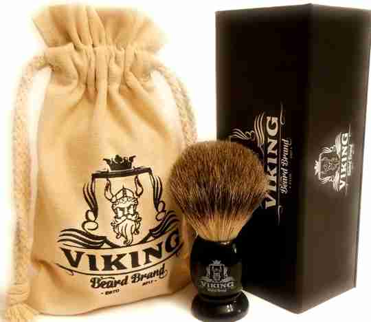 Badger brush shaving set