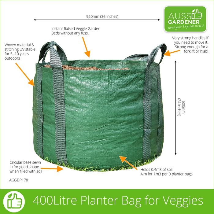Veggie Planter Bag - A whopping 920mm across.