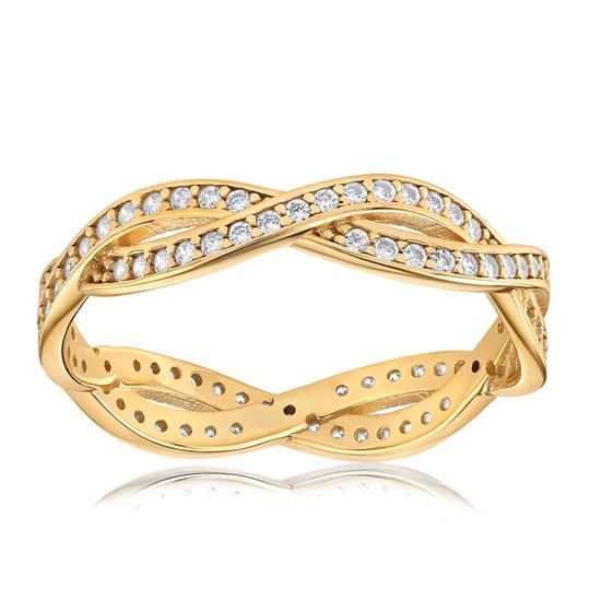 Rebecca rope ring in gold vermeil