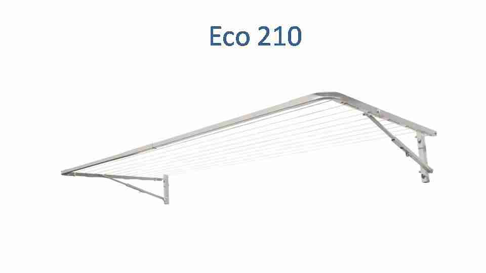 eco 210 fold down clothesline 2100mm wide deployed