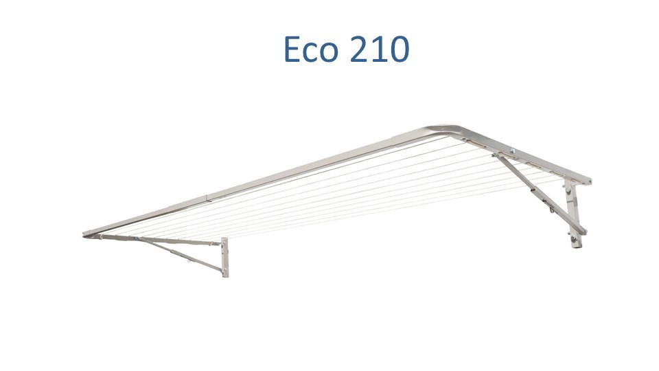 eco 210 fold down clothesline 2.1m wide deployed