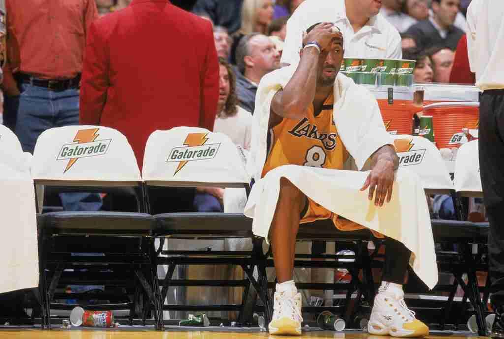 Kobe Bryant wearing the Yellow Toe Reebok Question PE via @SneakerHistory
