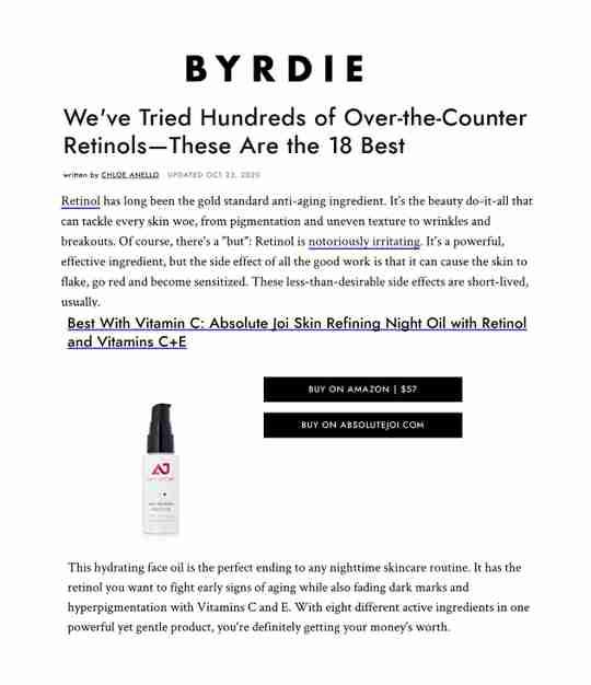 BYRDIE Best Retinol of 2020