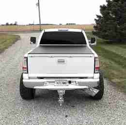 7 Inch Gloss White Octagon Diesel Exhaust Tip with Polished RC Overlays and 4 Inch Inlet