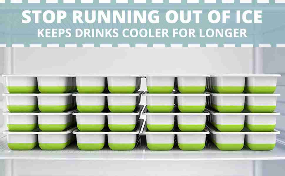 Stop running out of ice. Keep drinks cooler for longer.