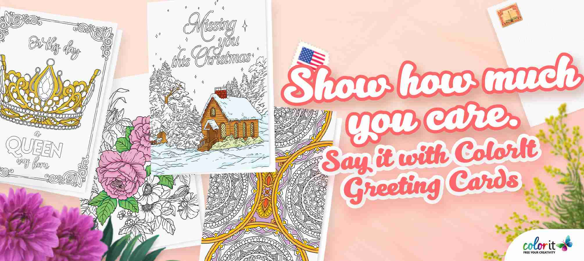 ColorIt Colorable Greeting Cards