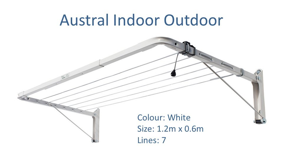 austral indoor outdoor 1.2m by 0.6m clothesline