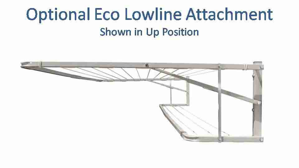 eco 2100mm wide lowline attachment show in up position