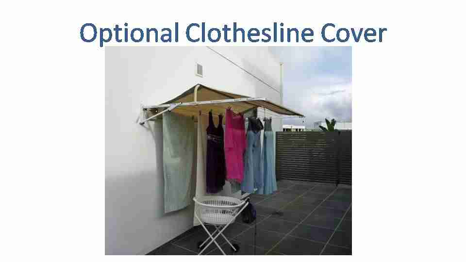 2100mm wide clothesline cover