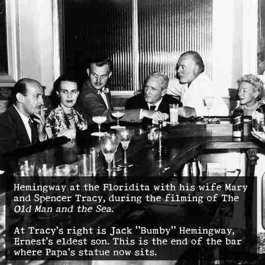 Hemingway at Floridita