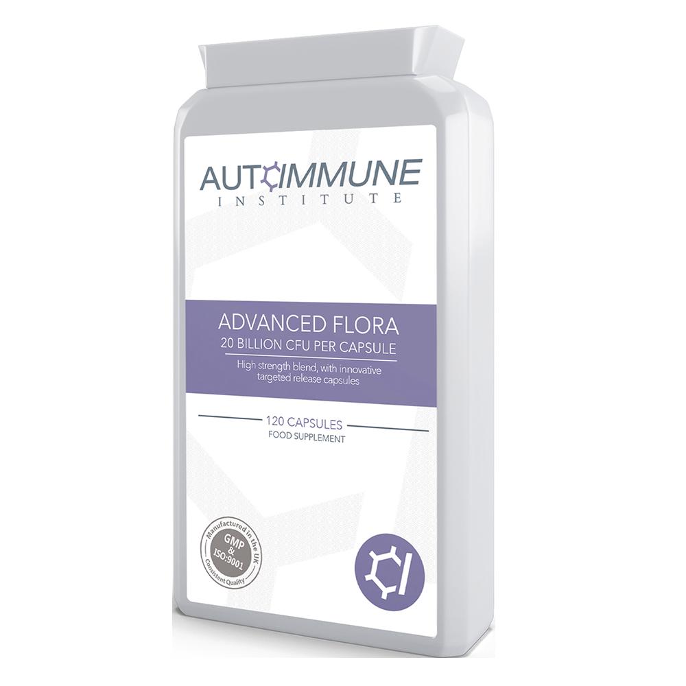 Advanced Flora - High Strength 6 Strain Friendly Bacteria Supplement (20 Billion CFU, 120 Capsules)