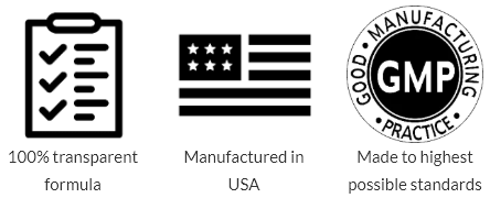 made in USA with GMP and FDA approved facility