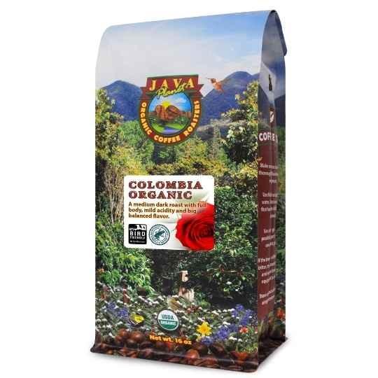Colombia Organic bird friendly rainforest alliance low acid coffee