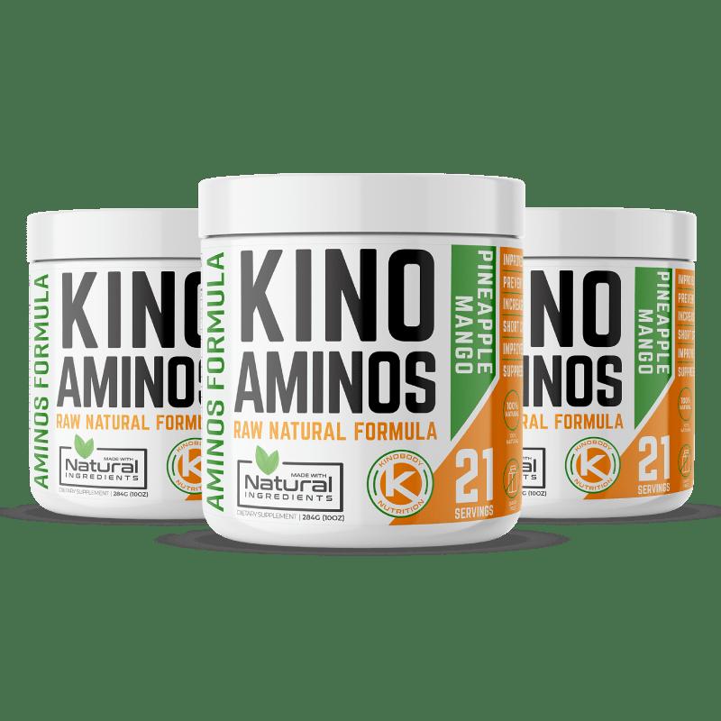 Kino AMINOS Pineapple Flavor Three Pack