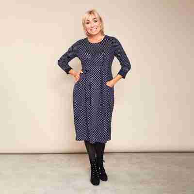 Zoe Polka Dot Dress(Navy)