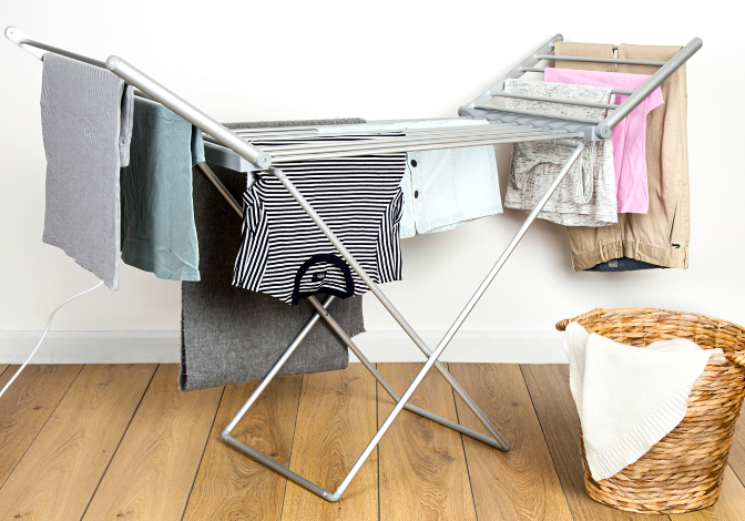 heated clothes airer reduces the reliability of the clothesline