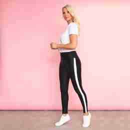 Bonnie Spandex Leggings(White Stripe)