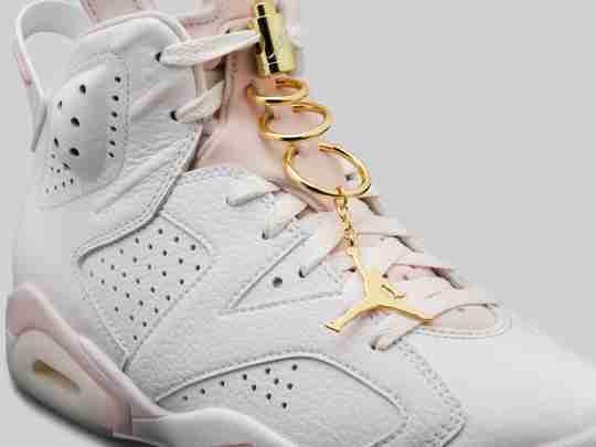 Air Jordan 6 Gold Earrings