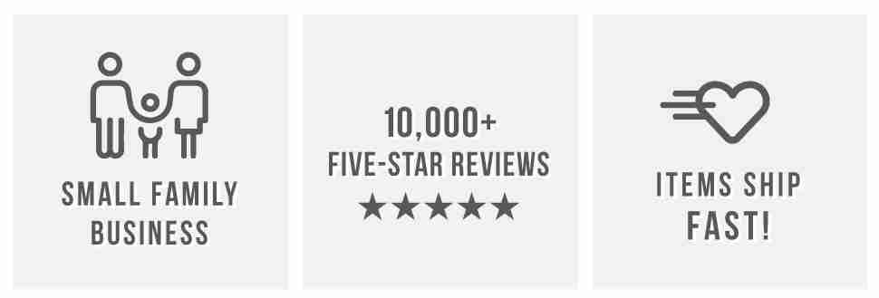 SMALL FAMILY BUSINESS - 5 STAR REVIEWS - ITEMS SHIP FAST