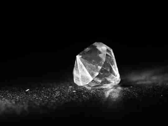 A fake diamond made from quartz