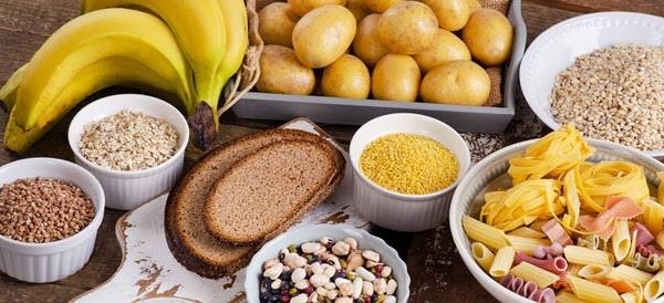 Carbs Carbohydrates Bread Pasta Potatoes Grains Bananas