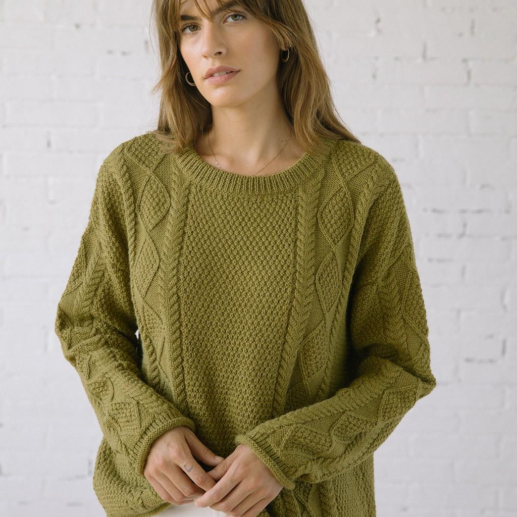Modern Fisher Sweater Alpaca Moss