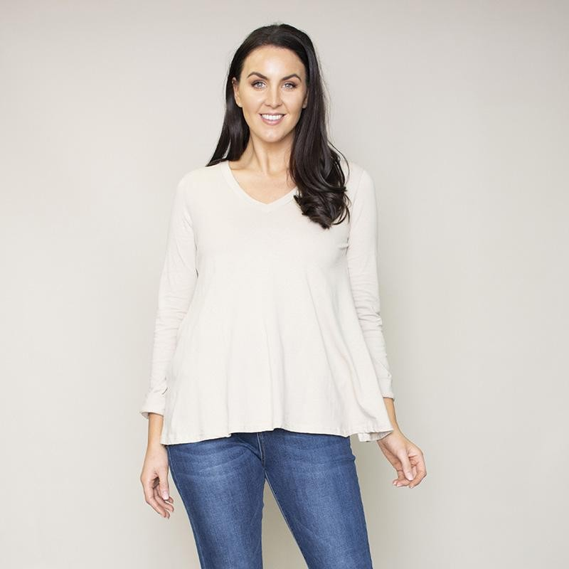 Sofia Swing V-Neck Top (Hazel)