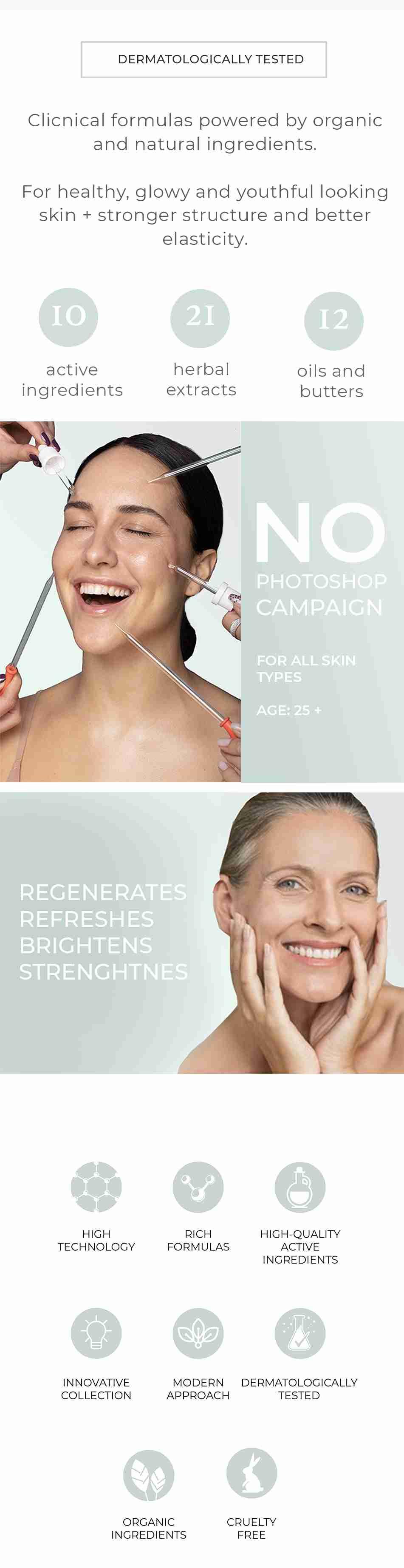 Dermatologically Tested La PIEL Lab natural Skincare Face Collection Lana Jurcevic