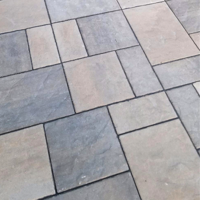 Charcoal with Gray and Cream Pavers