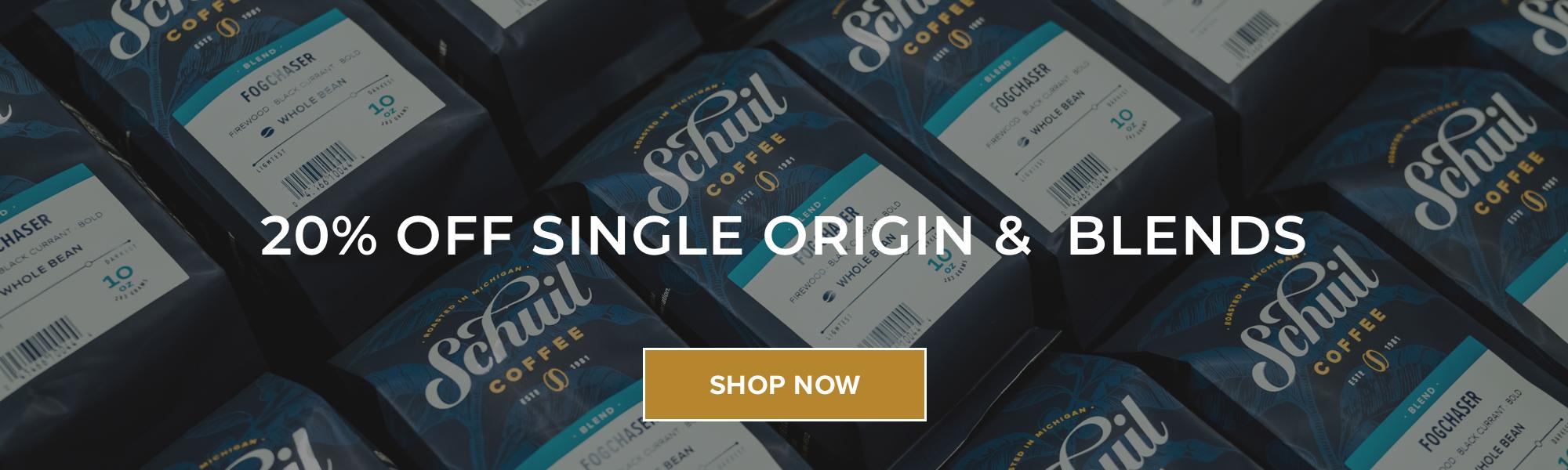 Schuil Coffee 20% Off Single Origin & Blends