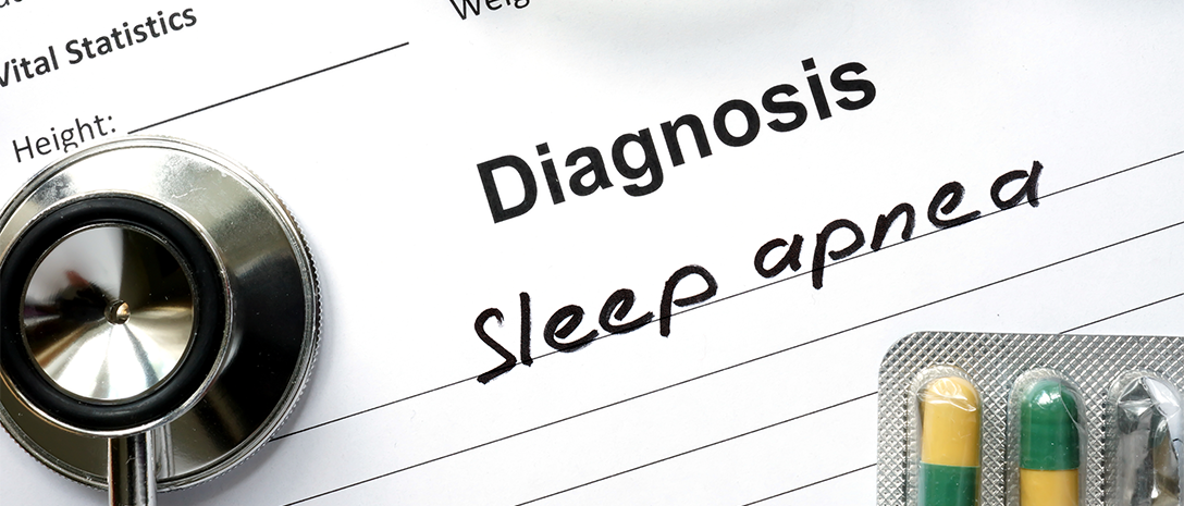 medical form that concludes with a diagnosis of sleep apnea