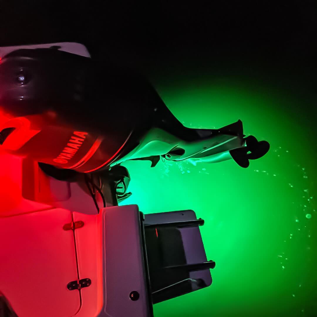 green led boat drain plug lights